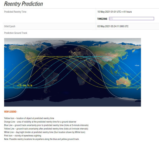 Experts have been predicting where the rocket will land (Aerospace.org)