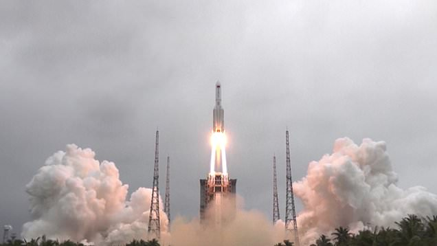 China launches central module of their first permanent space station