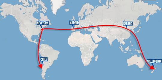 The path of reentry brings the rocket over several populated cities (MailOnline)