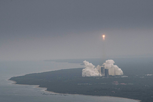 Another view of the launch, which took place last Thursday (Credits: AP)