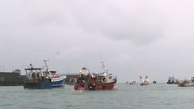 French fishing boats in Channel 'not going anywhere' amid fishing rights row