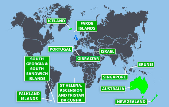 Full list of green list countries revealed metro graphics