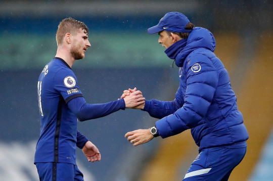 Thomas Tuchel says Timo Werner was 'relentless' in Chelsea's win over Manchester City