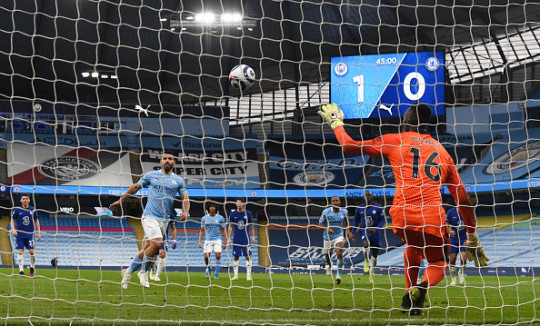 Edouard Mendy easily saved Sergio Aguero's penalty in Chelsea's win over Man City