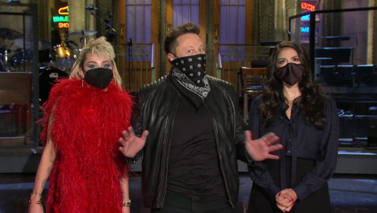 Elon Musk hosts Saturday Night Live on May 8, 2021, with musical guest Miley Cyrus.