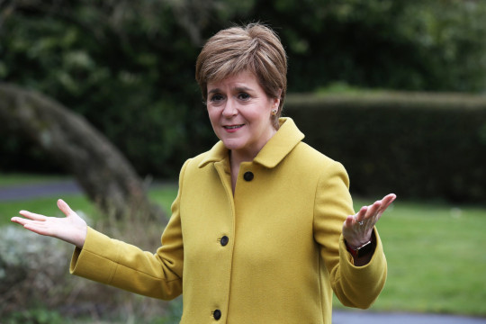 Nicola Sturgeon during a visit to Airdrie, North Lanarkshire, today after the SNP won a fourth victory in the Scottish Parliament election