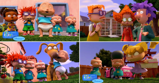 Voice actors EG Daily (Tommy), Nancy Cartwright (Chuckie), Cheryl Chase (Angelica), Cree Summer (Susie) and Kath Soucie (Phil and Lil) return to reprise their roles with characters Spike, Stu and Didi Pickles and Chas Finster