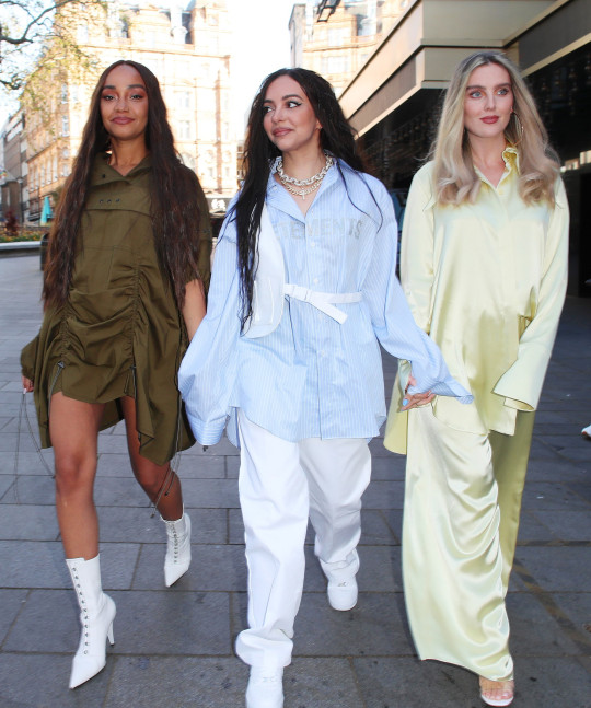 Little Mix members Leigh-Anne Pinnock, Jade Thirlwall and Perrie Edwards