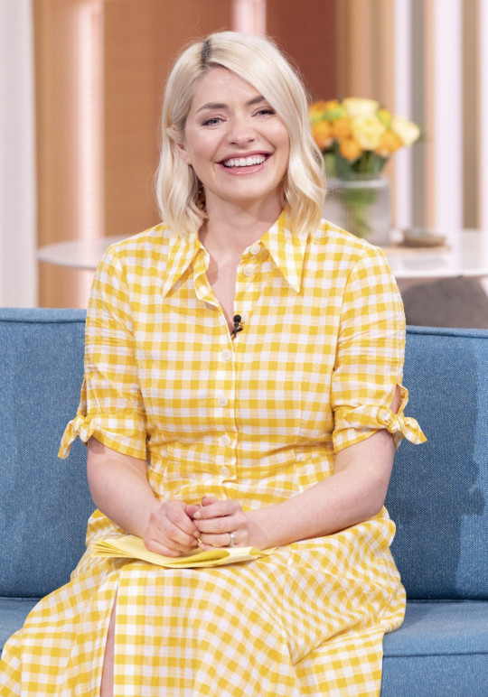 Editorial use only Mandatory Credit: Photo by Ken McKay/ITV/Shutterstock (11896931bh) Holly Willoughby 'This Morning' TV Show, London, UK - 10 May 2021