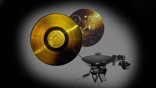 Voyager 1 is carrying a gold disc into space (Nasa/JPL)