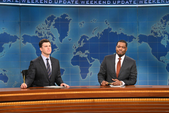 Saturday Night Live - The Weekend Update with Michael Che and Colin Jost