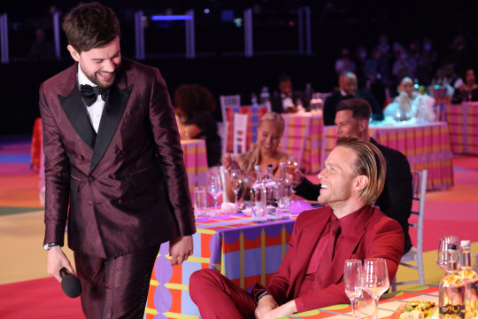 Jack Whitehall and Olly Murs at the brit Awards 2021