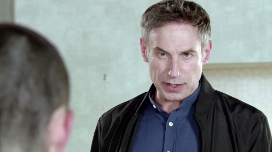 Can Corey's dad protect him in Corrie?
