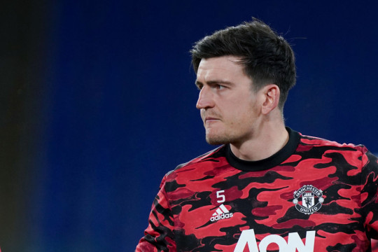 Harry Maguire of Manchester United during the UEFA Europa League Semi-Final match between AS Roma and Manchester United at Stadio Olimpico, Rome, Italy on 6 May 2021.