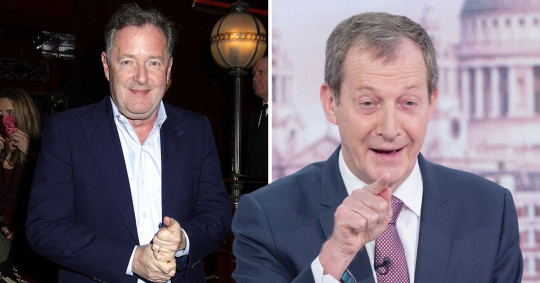 Piers Morgan and Alastair Campbell clash Rex Features