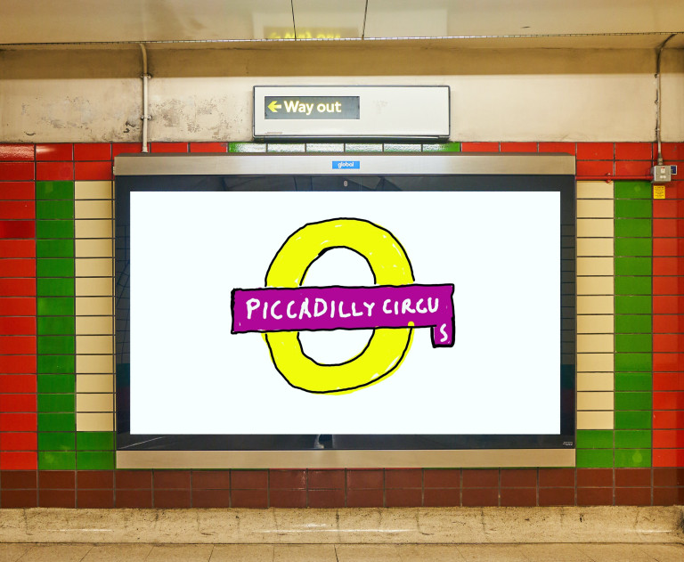 Piccadilly Circus design by David Hockney