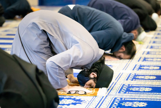 Worshipers at the Leeds Makkah Mosque in Yorkshire ahead of the start of Eid al-Fitr. The celebration marks the end of the Muslim month of fasting, called Ramadan. Picture date: Wednesday May 12, 2021. PA Photo. Muslims will celebrate Eid al-Fitr for the second year in a row under Covid-19 restrictions. See PA story RELIGION Eid. Photo credit should read: Danny Lawson/PA Wire