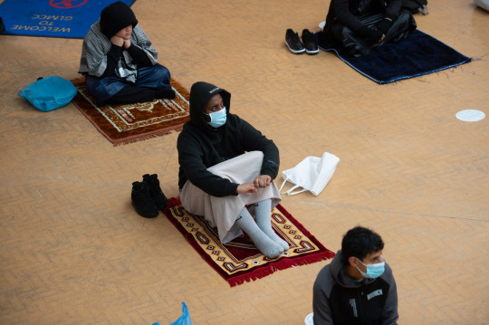 Worshippers at Green Lane Mosque in Birmingham take part in a prayer sitting to celebrate Eid al-Fitr. The celebration marks the end of the Muslim month of fasting, called Ramadan. Picture date: Thursday May 13, 2021. PA Photo. Muslims will celebrate Eid al-Fitr for the second year in a row under Covid-19 restrictions. See PA story RELIGION Eid. Photo credit should read: Jacob King/PA Wire