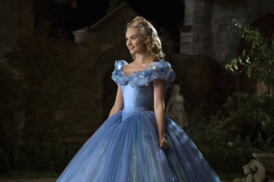 Editorial use only. No book cover usage. Mandatory Credit: Photo by Jonathan Olley/Walt Disney Pictures/Kobal/Shutterstock (5886142ao) Lily James Cinderella - 2015 Director: Kenneth Branagh Walt Disney Pictures USA Scene Still Fantasy