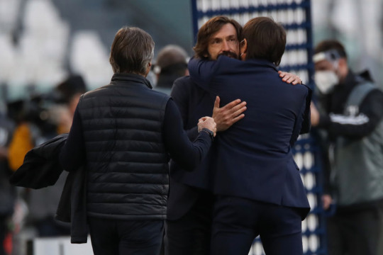 Andrea Pirlo looks on after Juventus' win over Inter Milan