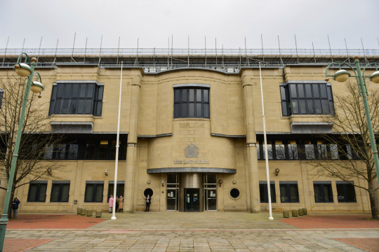 Bradford Crown Court where Sohaib Younis admitted unlawful wounding and breaching a restraining order.