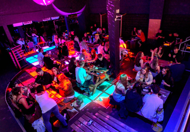 Dated: 17/05/2021 Revellers in Newcastle's Powerhouse among the first in the country to enjoy indoor drinking for the first time this year as bars reopen seconds after midnight this morning (MON) on the day coronavirus lockdown restrictions ease further. See indoor venues reopen round-up