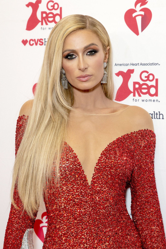 Paris Hilton at the American Heart Association's Go Red for Women, Arrivals, New York, USA - 05 Feb 2020