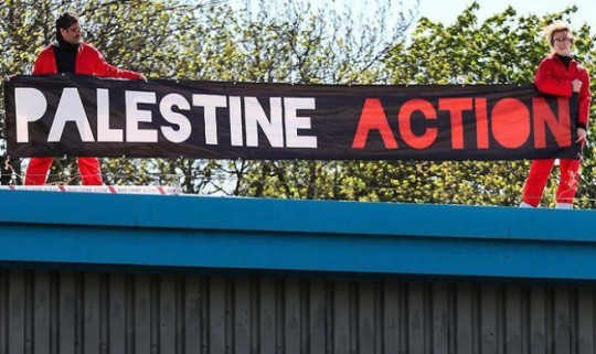 Pro-Palestine activists arrested for occupying factory roof have their houses raided by police. Pro-Palestine activists, who were arrested for occupying the roof of the Israeli-owned drone factory in Leicestershire, Elbit, 'have had their homes raided and their books seized by police'.