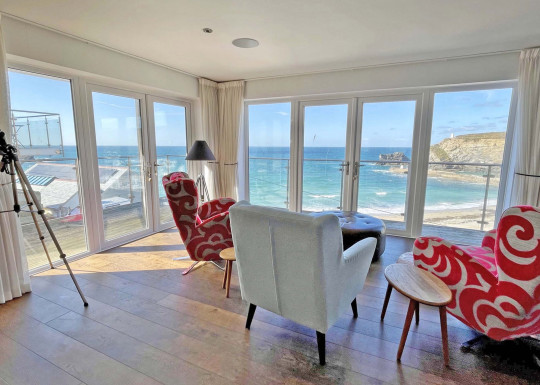 Most of the rooms have amazing views across the sea