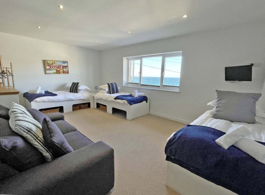 Another of the four bedrooms