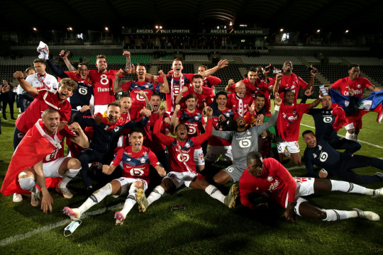 Lille clinched the Ligue 1 title on Sunday
