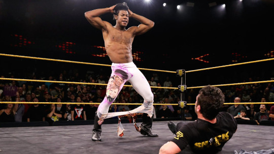 NXT superstar Velveteen Dream made his huge return and poses over Roderick Strong