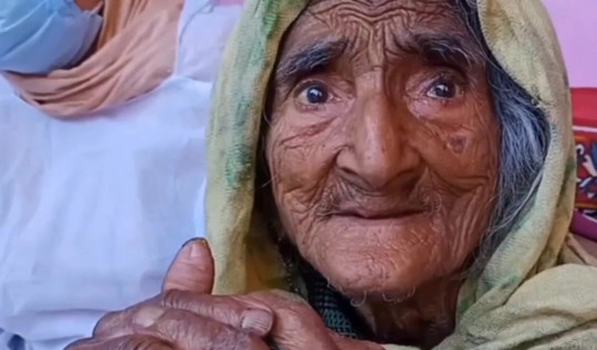 Rehtee Begum who claims to be 124.