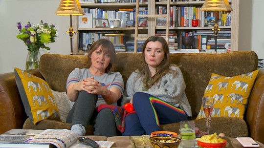 Lorraine Kelly and Rosie Smith making their Celebrity Gogglebox debut