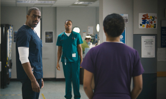 Jacob, Matthew and Tina in Casualty
