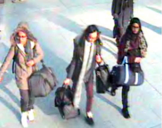 Shamima Begum was 15 when she was pictured flying from London Gatwick to Syria with two school friends in 2015