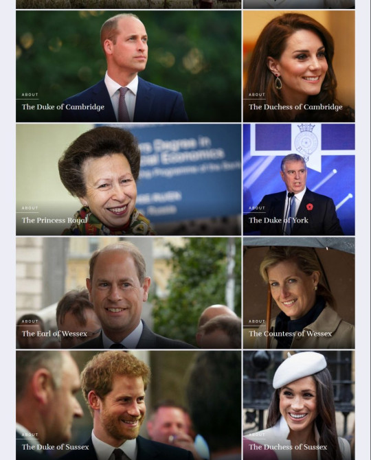 The Royal Family web page 5th June