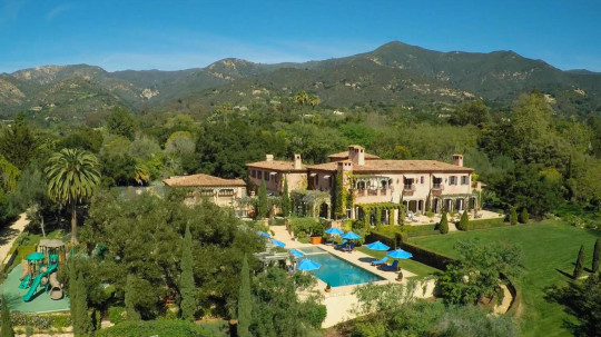 Harry and Meghan's five-acre home in Montecito, Santa Barbara in California, has nine bedrooms and 16 bathrooms.