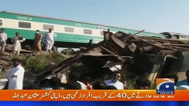 At least 35 people dead after two express trains collide in Pakistan