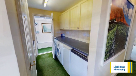 Astroturf house - artificial grass in utility room