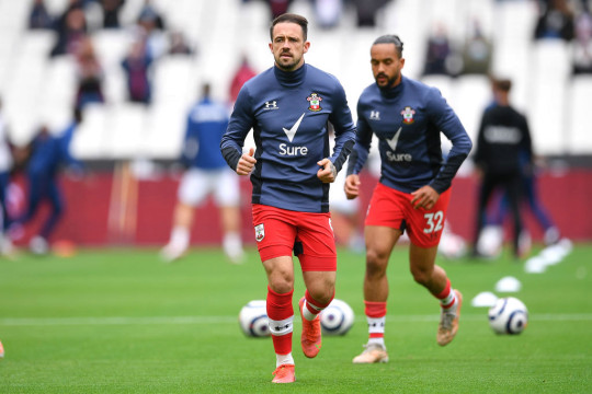 Danny Ings trains ahead of Southampton's clash with West Ham