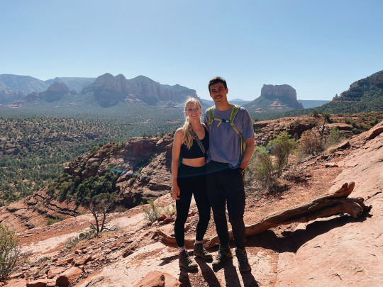 Ben and Malory pictured on a hike