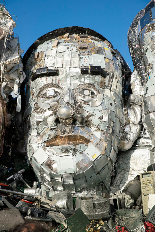 EDITORIAL USE ONLY Mount Recyclemore: The E7, which has been created out of e-waste, in the likeness of the G7 leaders and in the style of Mount Rushmore by British artist Joe Rush for tech recommerce expert musicMagpie, is unveiled on Sandy Acres Beach in Cornwall ahead of the G7 Summit starting later this week. Picture date: Tuesday June 8, 2021. PA Photo. The re-commerce expert is backing WasteAid's educational programme to tackle e-waste by donating money for each piece of tech sold to the site throughout June. Research has revealed that the G7 nations alone produce almost 16 million tonnes of e-waste a year, with the US (6.9m), Japan (2.6m), Germany (1.6m) and UK (1.6m) being the worst offenders. According to the UN, the current 53 million tonnes of e-waste generated annually worldwide will more than double by 2050, making it the fastest growing waste stream in the world. Photo credit should read: Adam Gasson/PA Wire