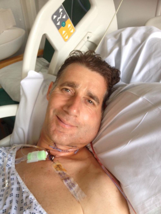 Mick managing to smile after major surgery in June 2016. PA REAL LIFE/COLLECT