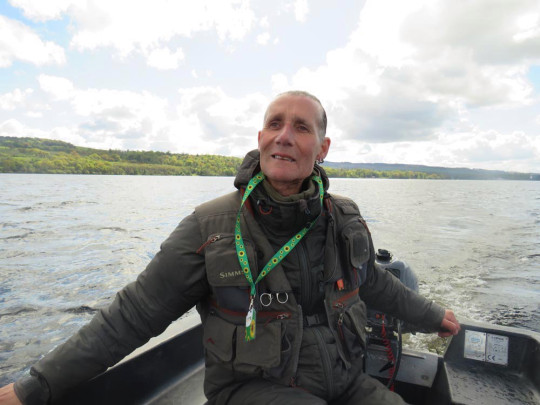 Mick on Loch Lomond during his fishing trip. PA REAL LIFE/COLLECT