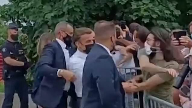 President Macron slapped by man in crowd on visit to southeastern France