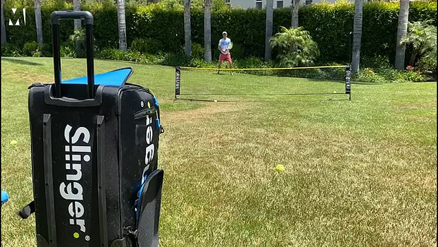 The Slinger Bag is helping doubles tennis players stay sharp in lockdown
