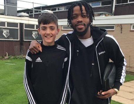 Danny Edmead at Fulham with footballer Nathan Chalobah