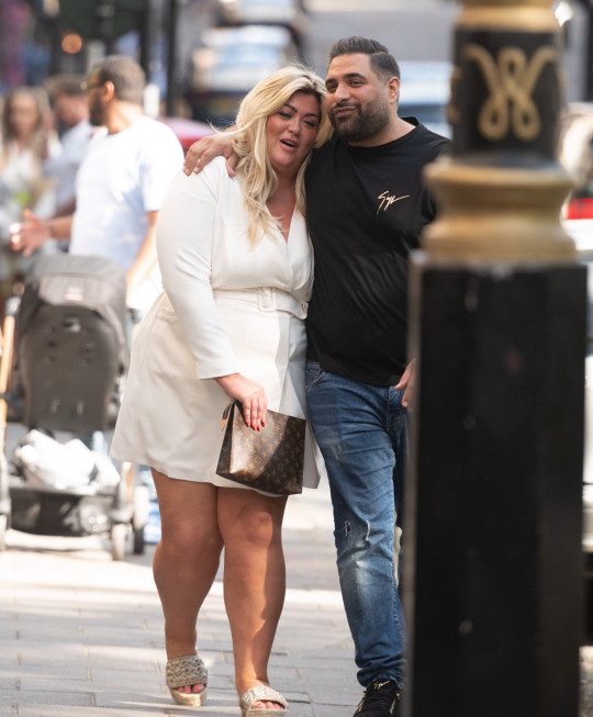 Gemma Collins seen out and about in Mayfair with a mystery man Pictured: Gemma Collins Ref: SPL5232115 120621 NON-EXCLUSIVE Picture by: SplashNews.com Splash News and Pictures USA: +1 310-525-5808 London: +44 (0)20 8126 1009 Berlin: +49 175 3764 166 photodesk@splashnews.com World Rights,
