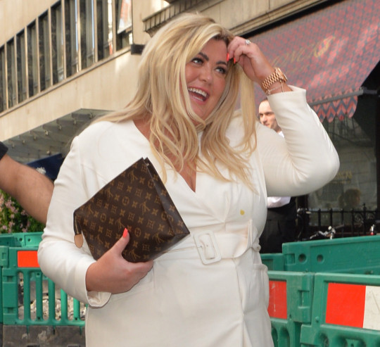 Gemma Collins seen leaving Bagatelle , Mayfair with a mystery man